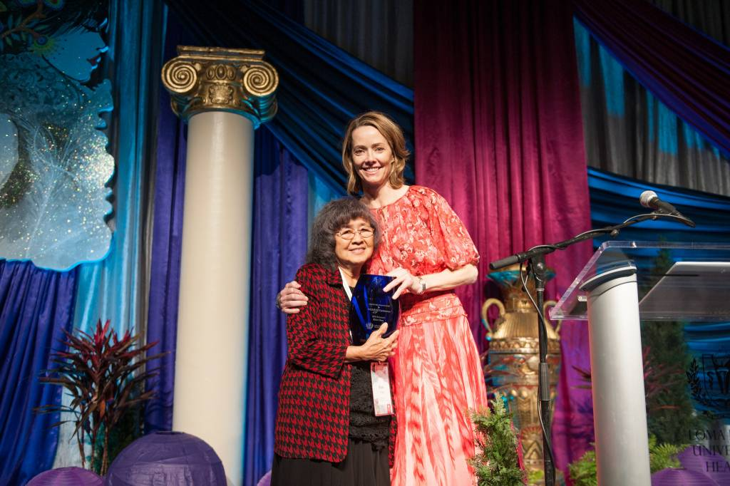 Elsie Chan, of Loma Linda, CA, was the 2018 Conference honoree for her volunteer and charitable work in that city for more than 50 years. Beverly Rigsby announced Chan's honor.