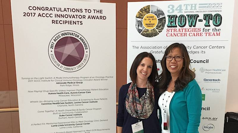 Kristina Chase and Lexine That attended ACCC 34th National Oncology Conference