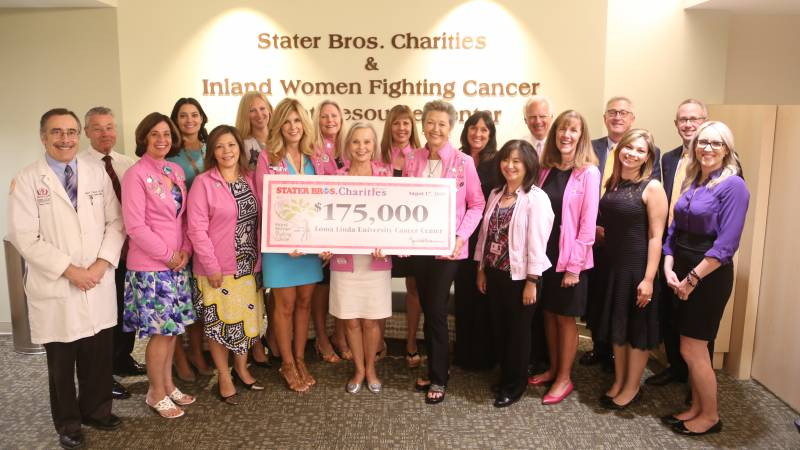 Judy Chatigny (second from left), director of LLU Cancer Center, along with the founding members of Inland Women Fighting Cancer