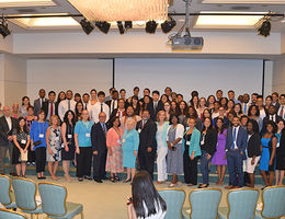 Group photo of students and faculty participating in the 16th Annual Health Disparities Research Symposium