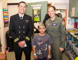 Airline pilots pay a visit to Loma Linda University Children's Hospital