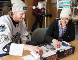 Ontario Reign visits Loma Linda University Children's Hospital