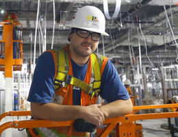 Adam is a plumber who is working on the new Loma Linda University Children's Hospital tower.