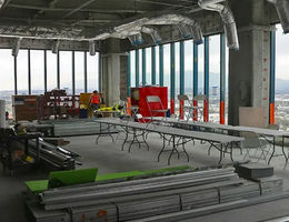 Progress continues on future adult hospital's top floor