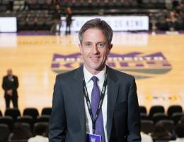Jason Brayley at Golden 1 Center in Sacramento in March.