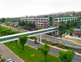 Artist rendering of future Barton Road pedestrian bridge