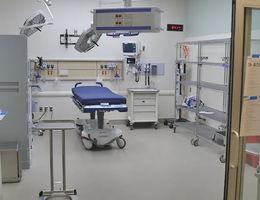 Cardiac trauma room in new adult emergency department.