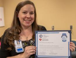 """This accreditation encompasses the full continuum of care for our cardiac patients,"" said Chandra Taylor, RN, chest pain coordinator in the Emergency Department."