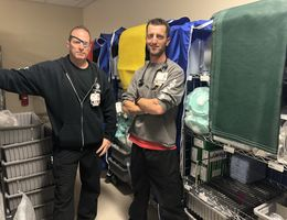 Two nurses, carts, and a new disaster plan