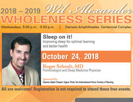 Annual Wil Alexander Wholeness Series begins October 24