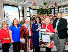Gingerbread village event at Loma Linda University Children's Hospital enhanced by community volunteers