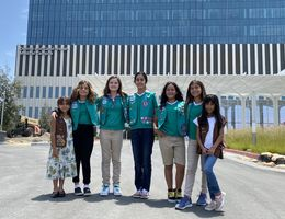 Girl Scouts tour future hospital