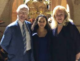 Bailey, other Loma Linda University Health representatives were guests on Rose Parade float