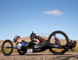 Brett Richards on his para cycle