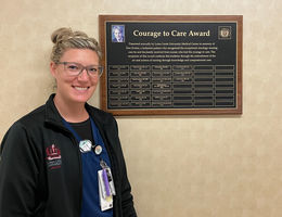 Emily Ensley is this year's recipient of the Courage to Care award