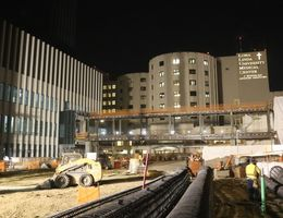 Photos: Hospital Construction Site at Night