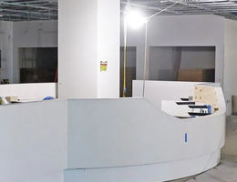 Future hospital's main lobby beginning to show signs completion is nearing