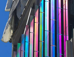 Children's Hospital colored glass exterior