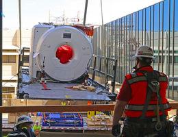 MRI Installation marks major milestone in hospital construction effort