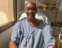 Albert Richards after transplant surgery