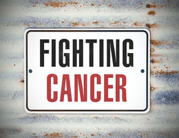 Sign that says Fighting Cancer