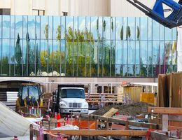 Schuman Pavilion Pedestrian Bridge receives protective glass walls