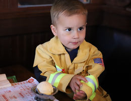 Local firefighters wait tables and raise over $5,000 for LLU Children's Hospital