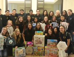 Students from Westlake High School Visit, donate gifts to Loma Linda University Children's Hospital