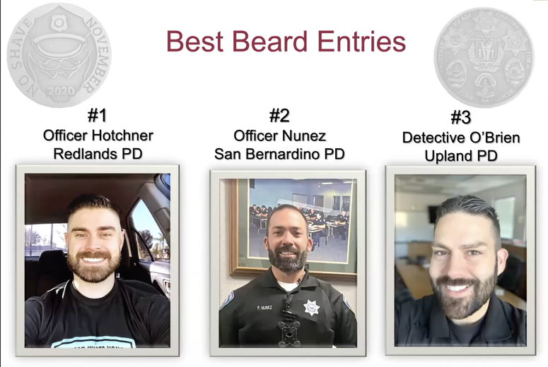 Contestants for Best Beard during No Shave November 2020
