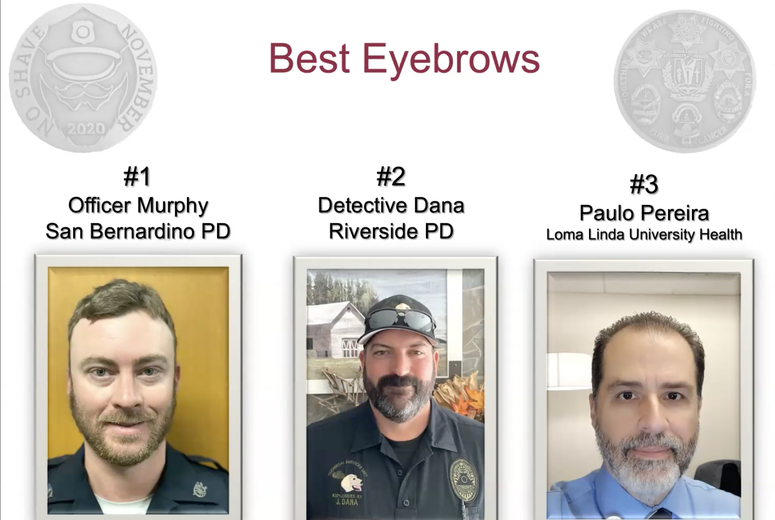 Contestants for Best Eyebrows during No Shave November 2020