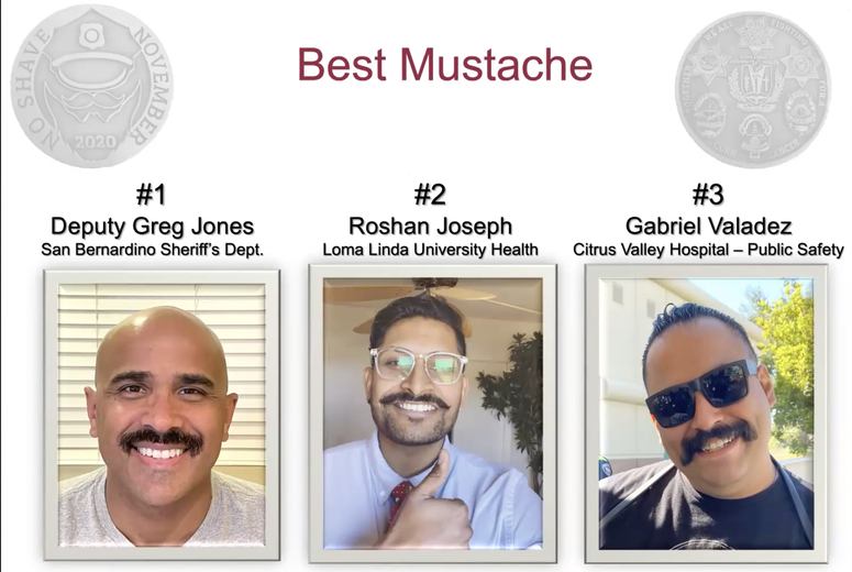 Contestants for Best Mustache during No Shave November 2020
