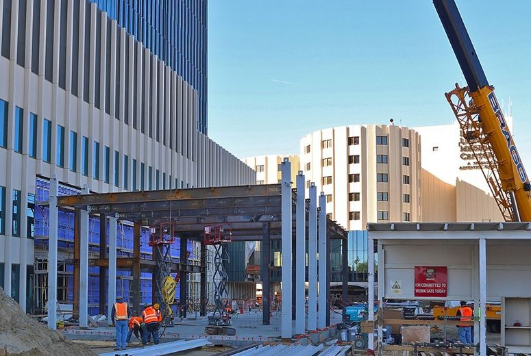 Future hospital entrance/galleria