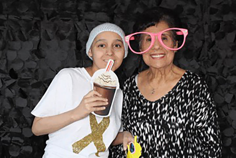 Melendrez and her grandmother at the LLUCH