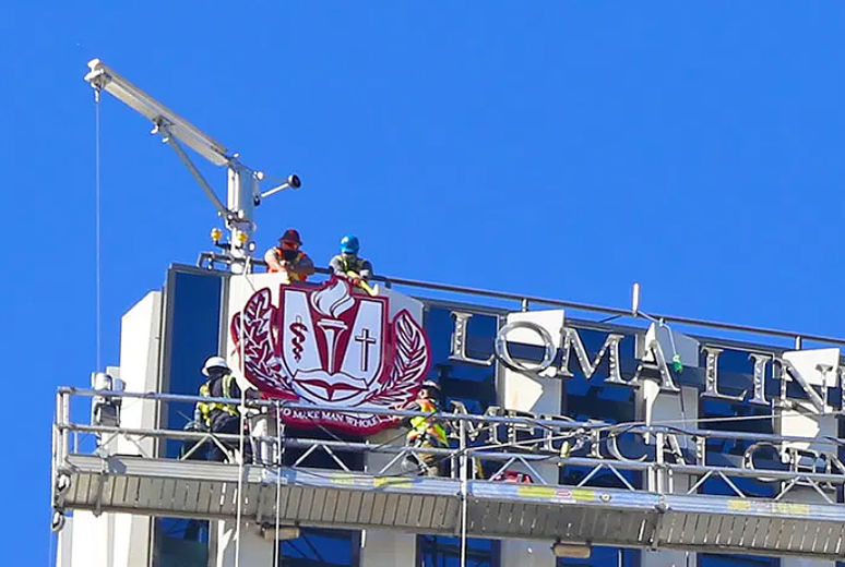 Logo installed on Adult Tower