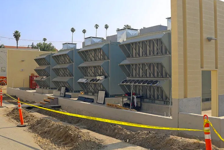Emergency power plant for new facility