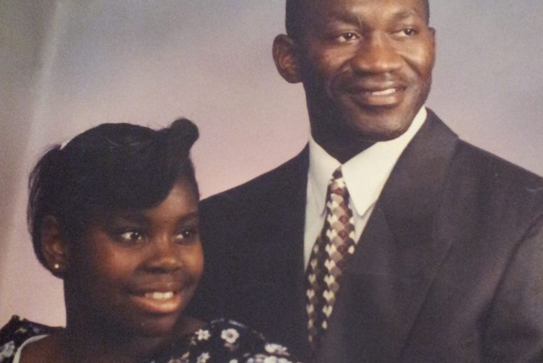 Richards and his daughter